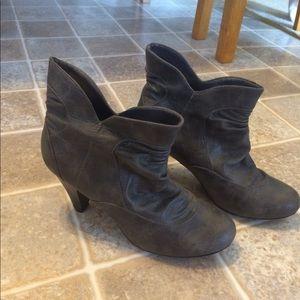 Grey, High-Heeled Booties, Size 9.5